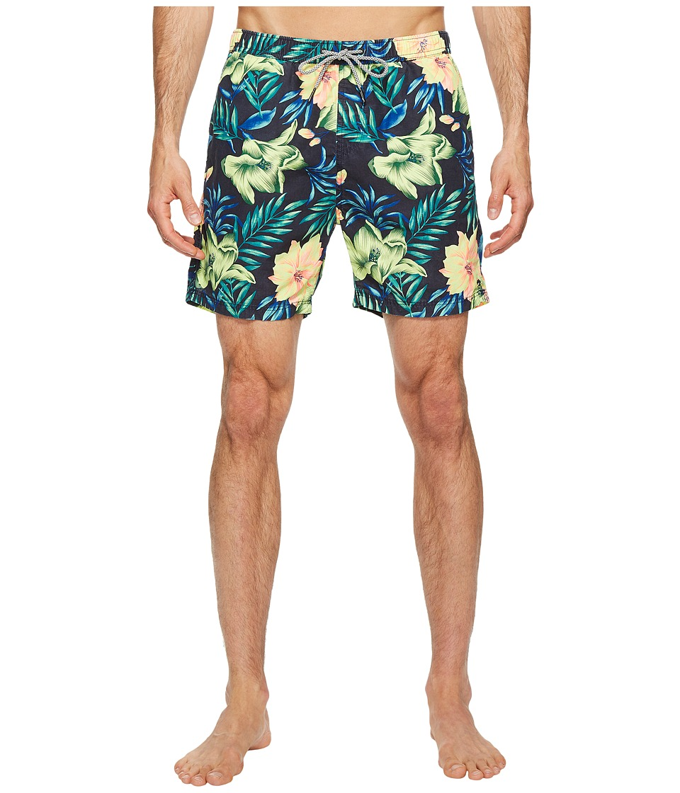 Scotch & Soda Medium Length Swim Shorts in Cotton/Nylon Quality with All Over (Combo G) Men