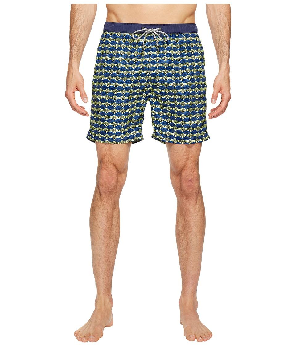 Scotch & Soda Medium Length Swim Shorts in Fine Peached Quality with Pattern (Combo C) Men