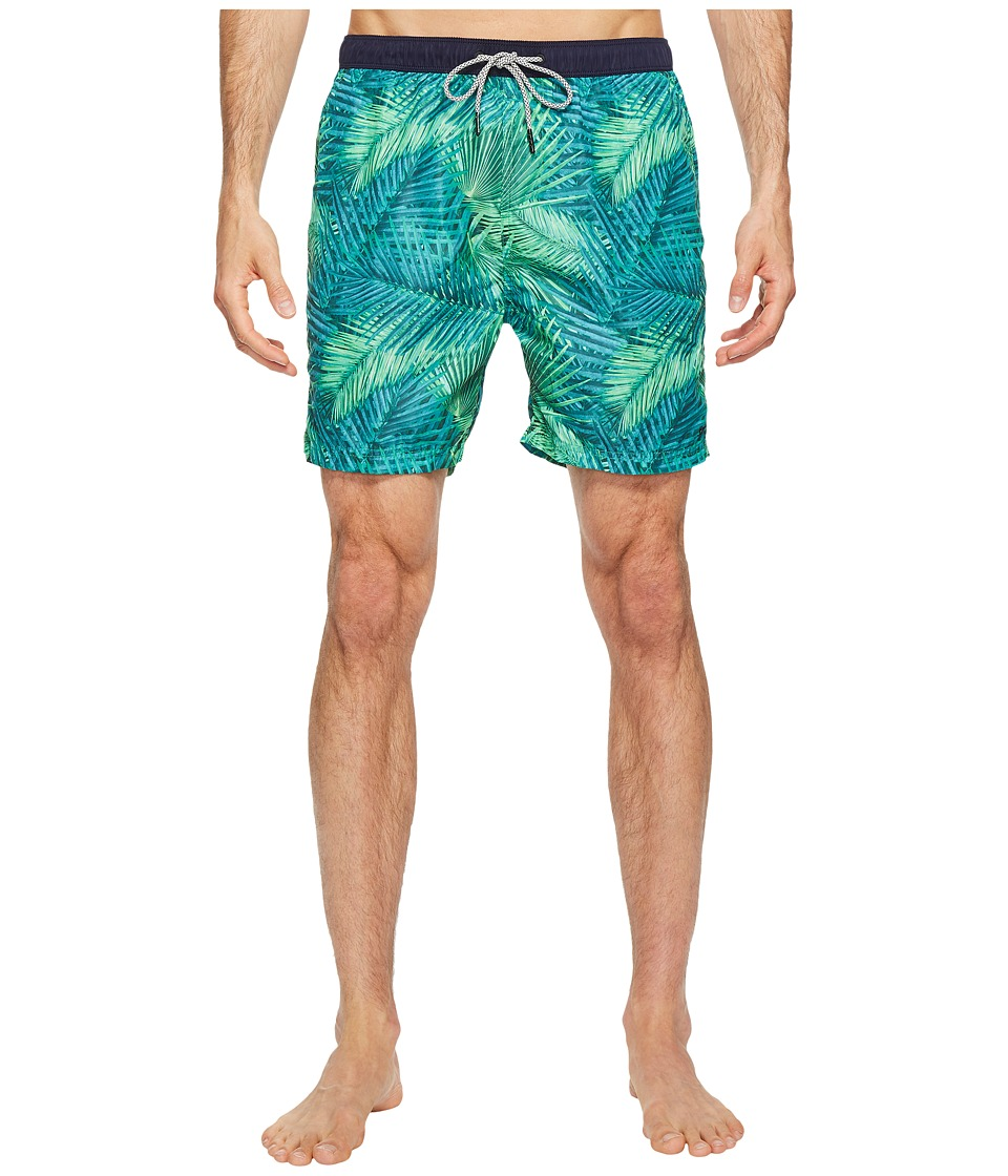 Scotch & Soda Medium Length Swim Shorts in Fine Peached Quality with Pattern (Combo F) Men