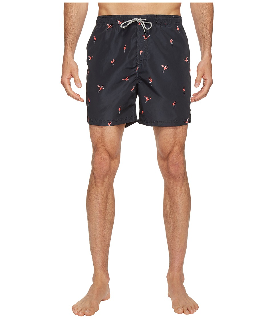 Scotch & Soda - Swim Shorts in Polyester Quality with All Over Print and Contrast Inside Waistband