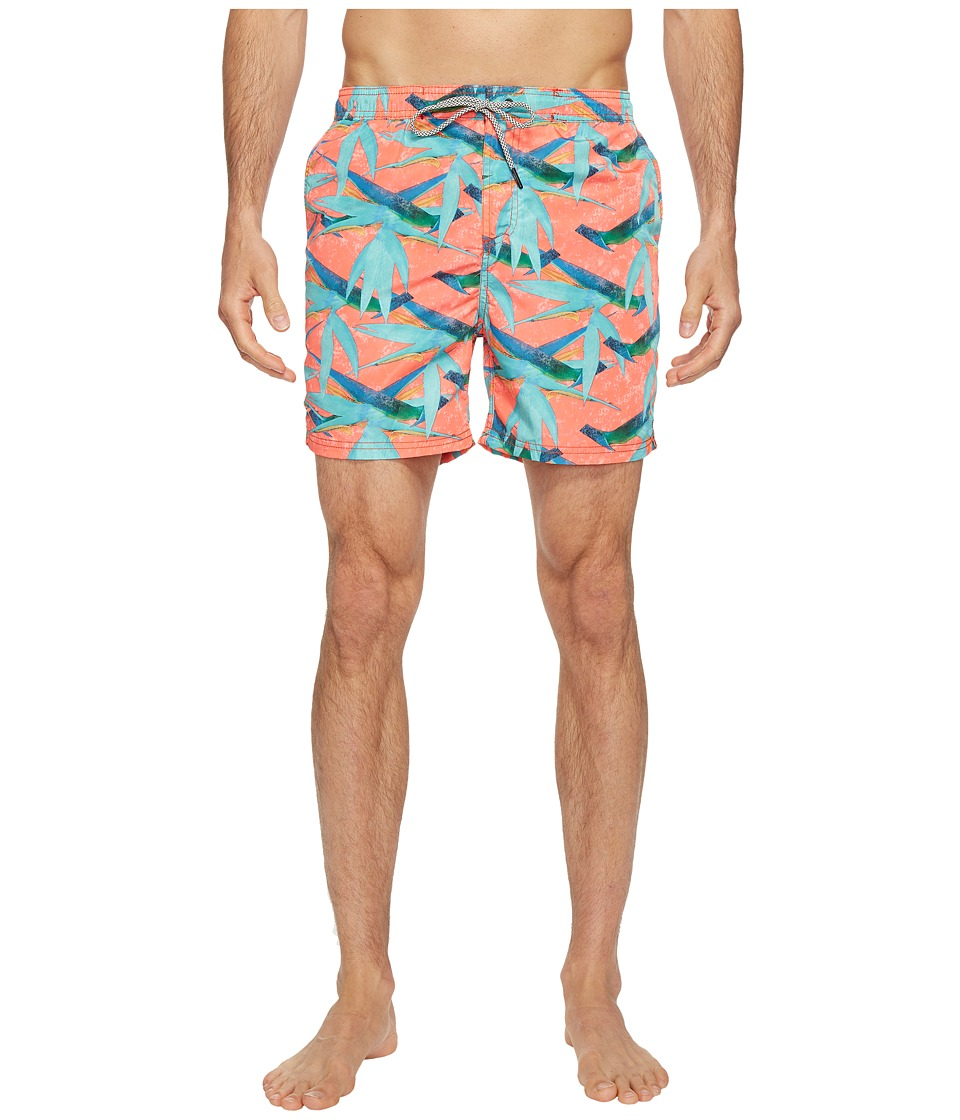 Scotch & Soda Swim Shorts in Polyester Quality with All Over Print and Contrast Inside Waistband (Combo G) Men