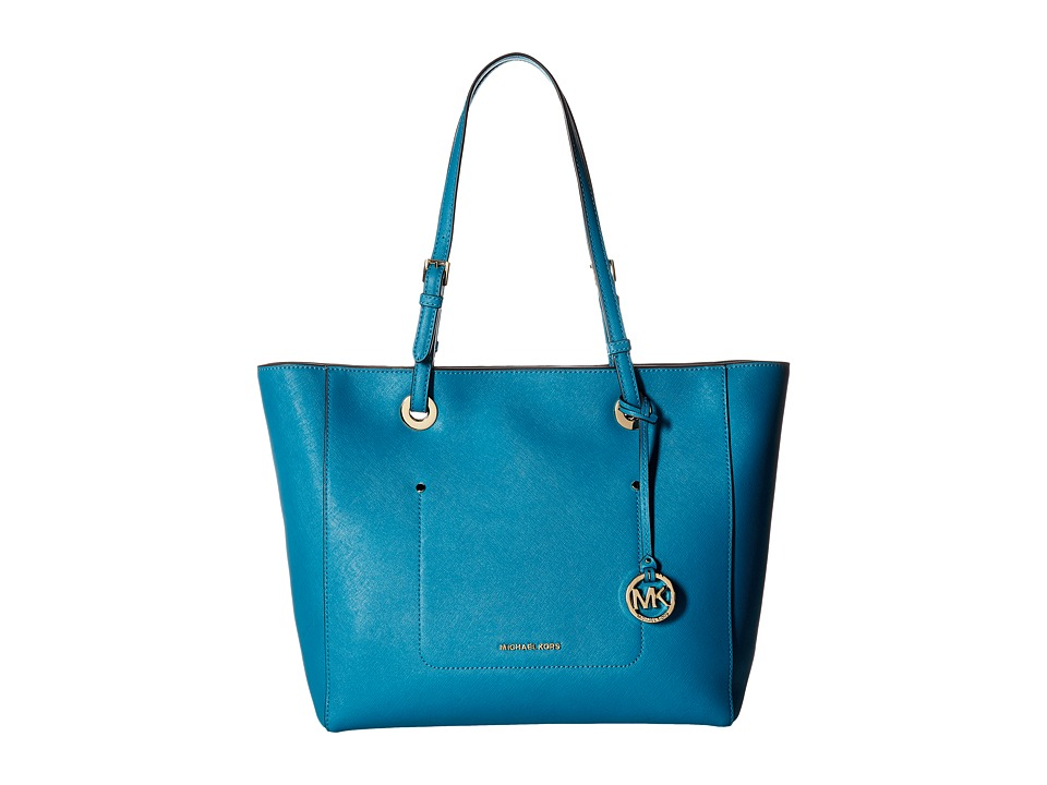 Michael Kors Walsh Large East/West Top Zip Tote (Peacock)...