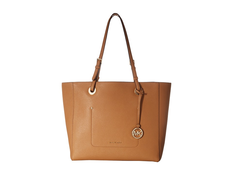 Michael Kors Walsh Large East/West Top Zip Tote (Acorn) T...