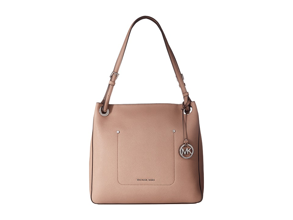 Michael Kors Walsh Medium Shoulder Tote (Fawn) Tote Handbags