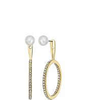 Kate Spade New York - Shine On Pearl Hoop Ear Jackets Earrings