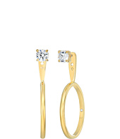 Kate Spade New York - Shine On Stone Hoop Ear Jackets Earrings