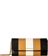 MICHAEL Michael Kors - Multi Stripe Jet Set Travel Wallet on A Chain