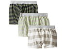 Toobydoo - Multi Green Underwear 3-Pack (Infant/Toddler/Little Kids/Big Kids)
