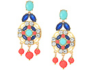 Jeweled Tile Statement Earrings