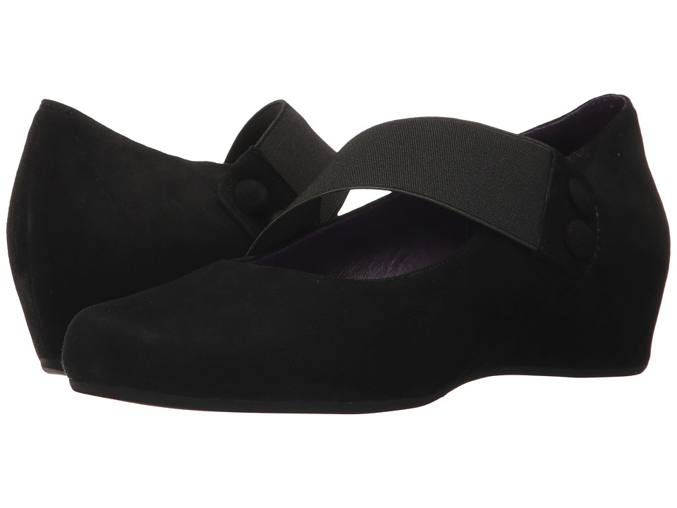 Vaneli Mabel (Black Suede/Matching Elastic) Women's Shoes