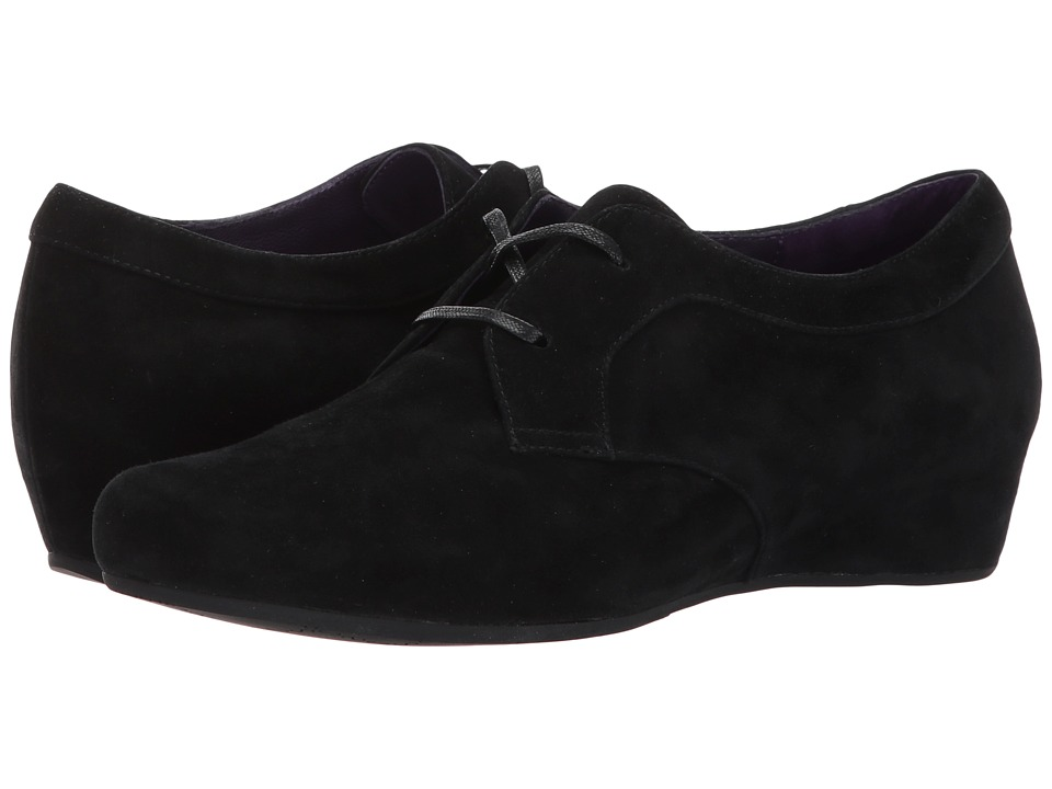 Retro Vintage Flats and Low Heel Shoes Vaneli - Macey Black Suede Womens Shoes $159.95 AT vintagedancer.com