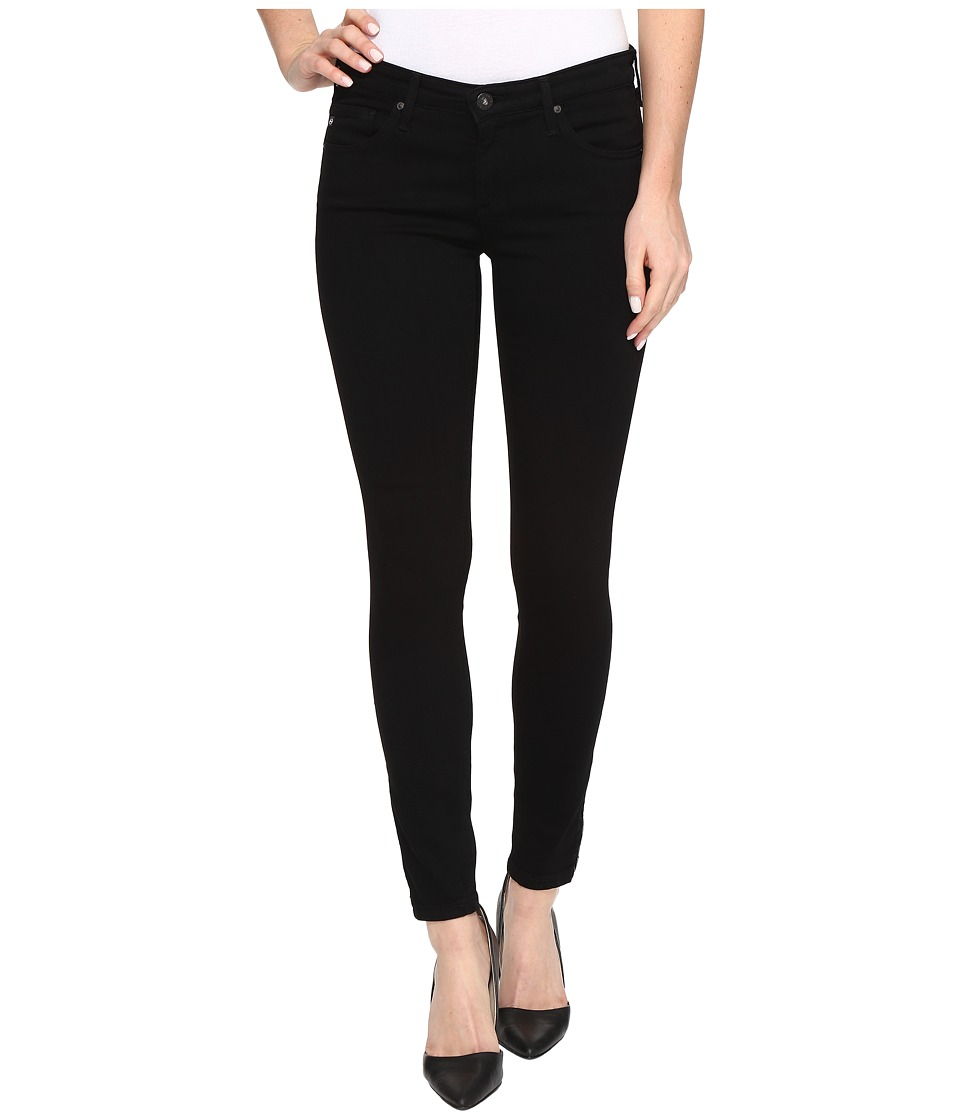 AG Adriano Goldschmied - Zip-Up Leggings Ankle in Super Black