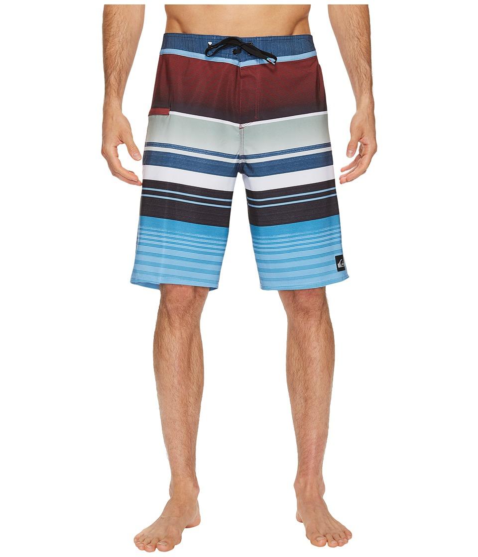 Quiksilver Everyday Stripe Vee 21 Boardshorts (Dark Denim) Men