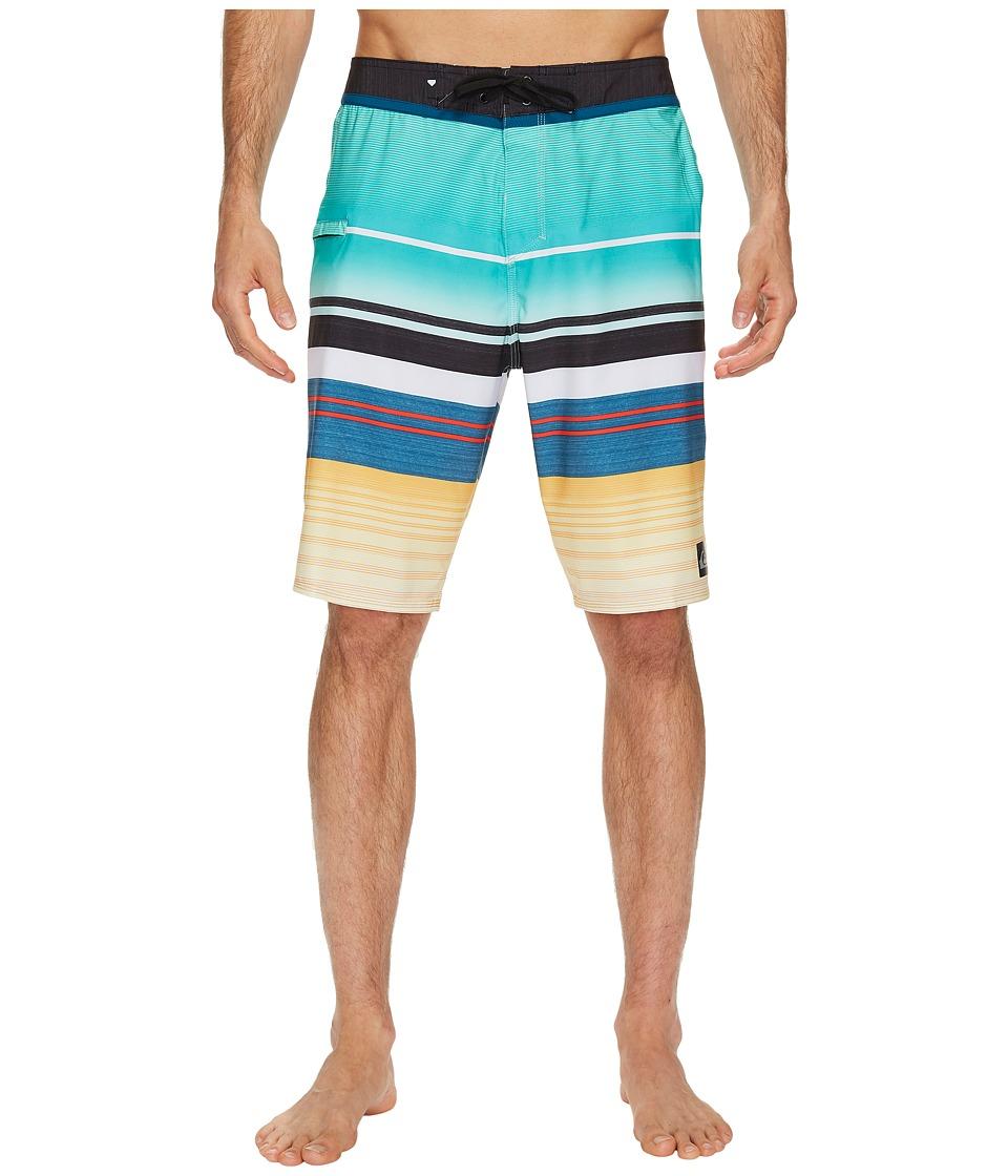 Quiksilver Everyday Stripe Vee 21 Boardshorts (Pool Blue) Men