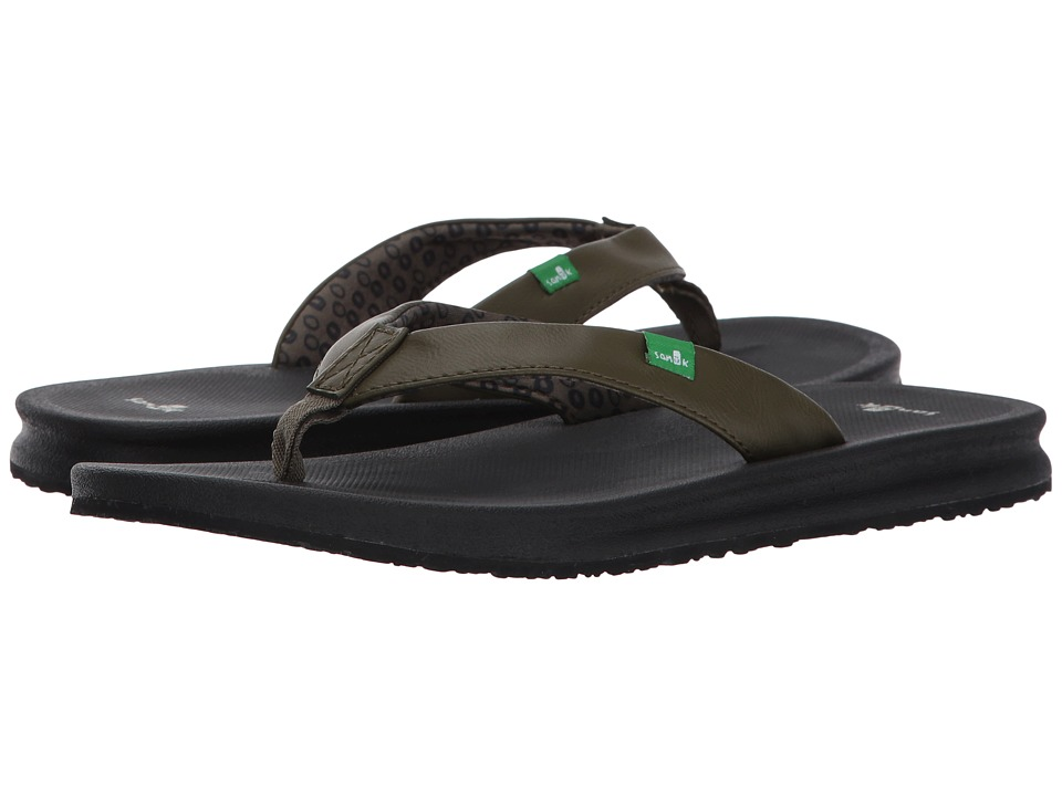 Sanuk - Yoga Mat Wander (Dark Olive) Women's Sandals