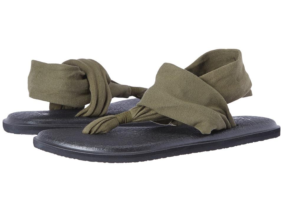 Sanuk Yoga Sling 2 (Dark Olive) Sandals