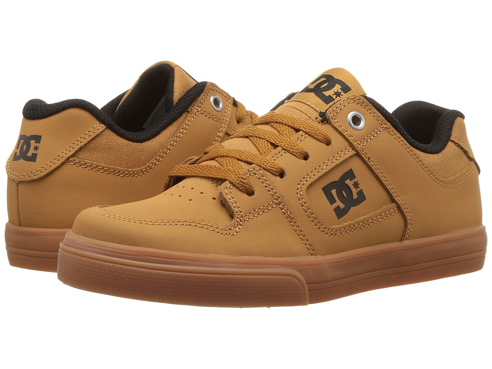 DC Kids Pure (Little Kid/Big Kid) (Wheat) Boys Shoes