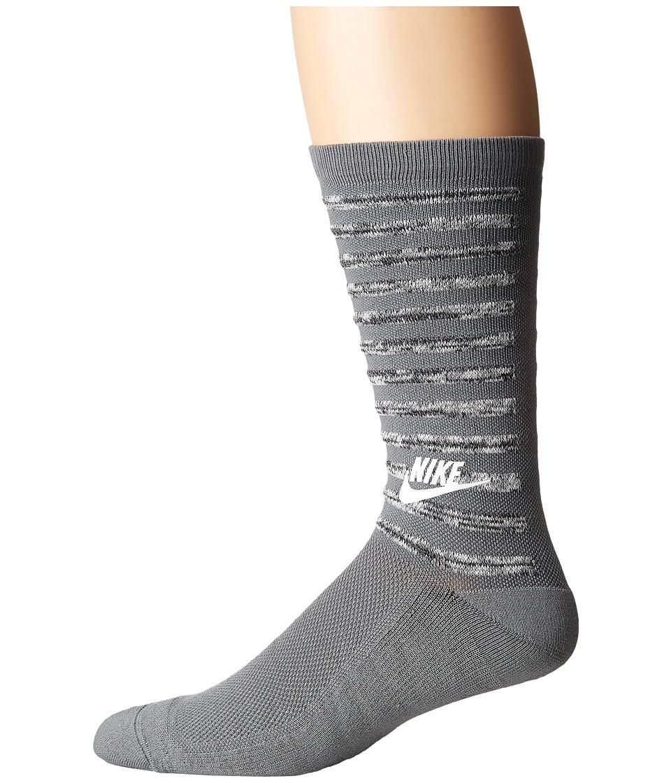 Nike - Sportswear Tech Pack Crew Socks (Cool Grey/White/White) Men's Crew Cut Socks Shoes