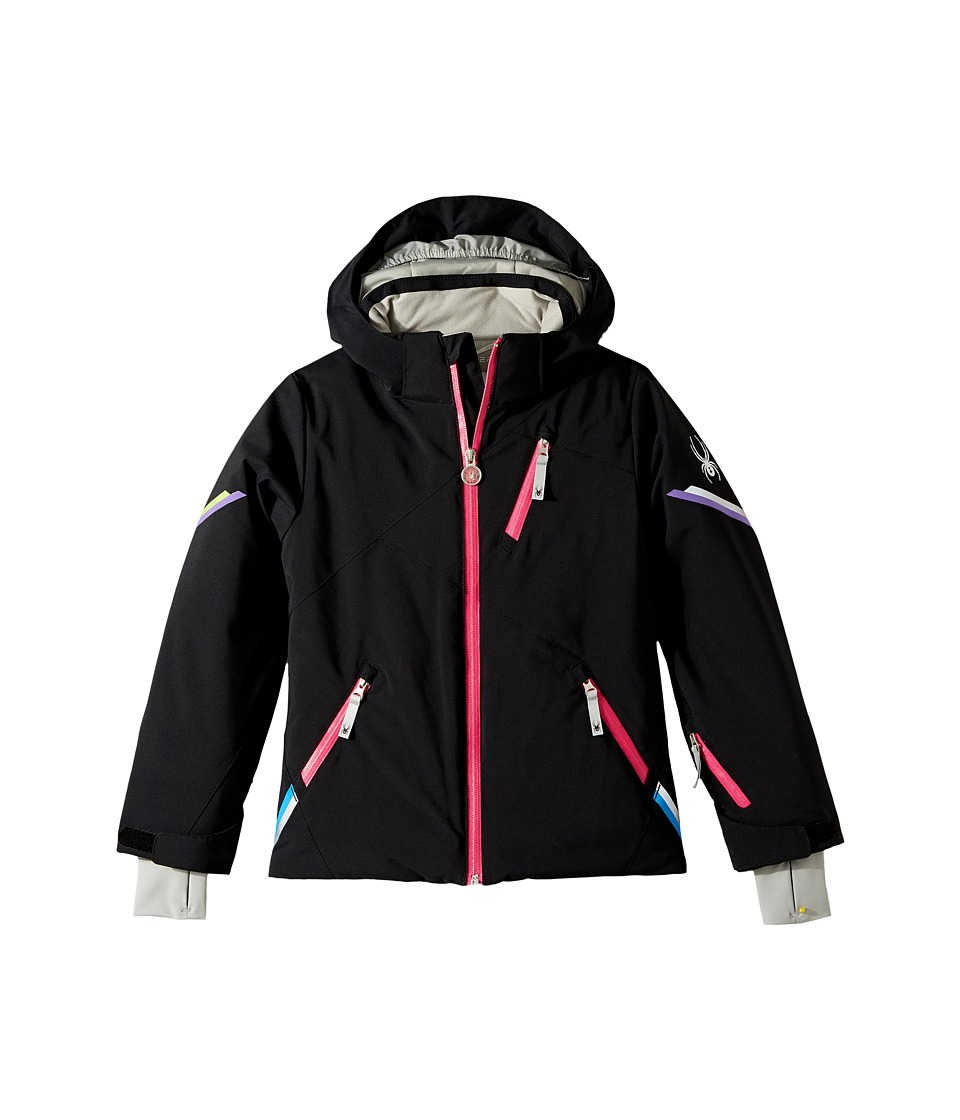 Spyder Kids - Pandora Jacket (Big Kids) (Black) Girl's Coat