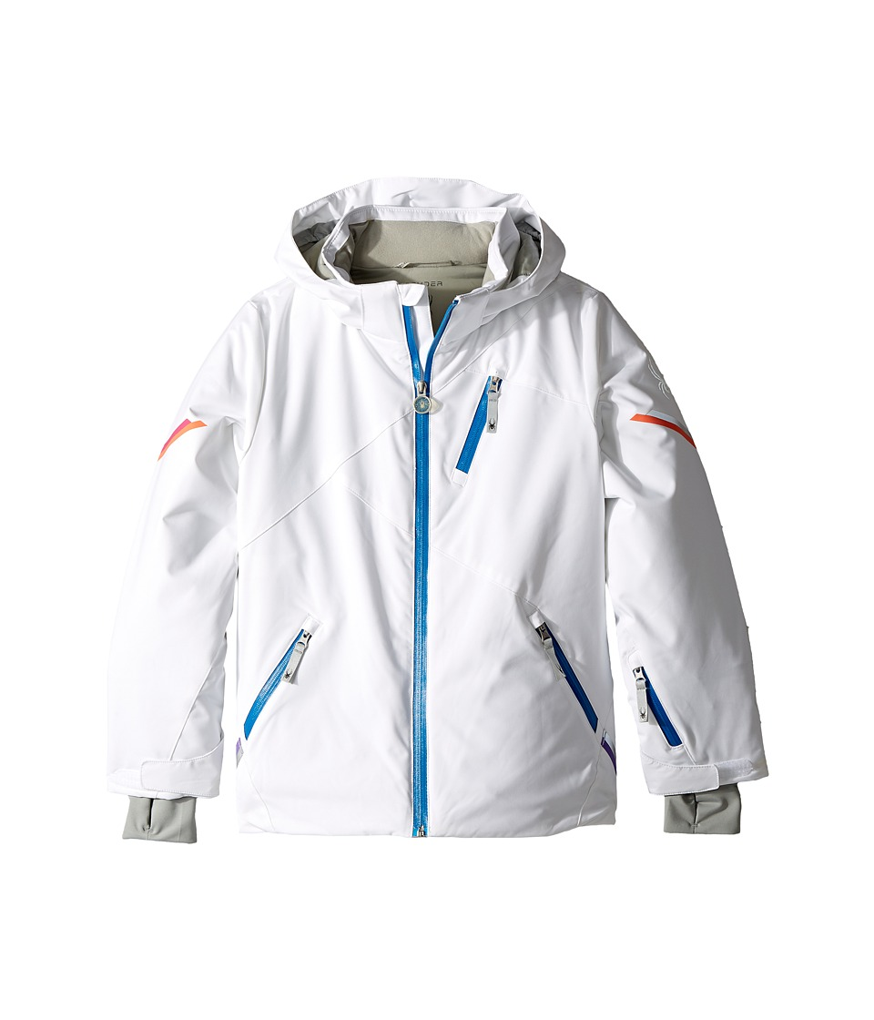 Spyder Kids - Pandora Jacket (Big Kids) (White) Girl's Coat