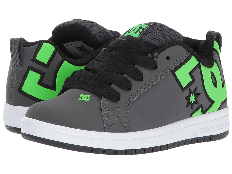 DC Kids Court Graffik SE Glow (Little Kid/Big Kid) (Green/Grey/White) Boys Shoes