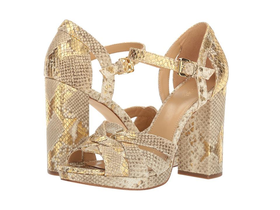 Michael Kors Annaliese Platform (Natural/Gold) Women's Shoes