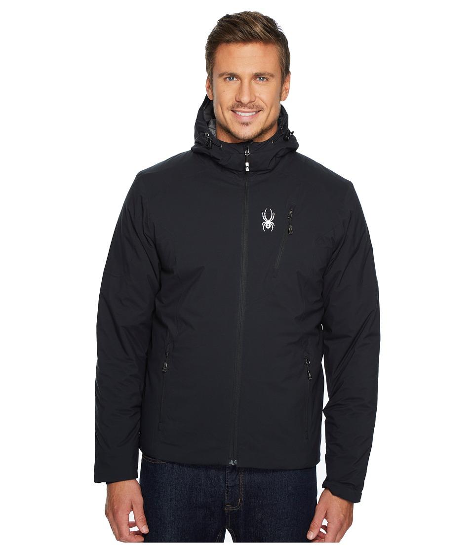 Spyder Berner Hoodie Jacket (Black/Black/Black) Men