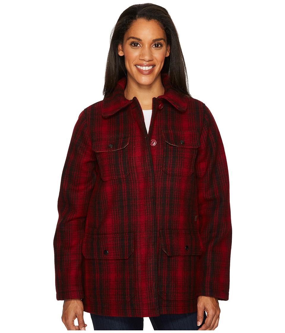 Woolrich Miss 503 Coat (Red/Black) Women's Coat