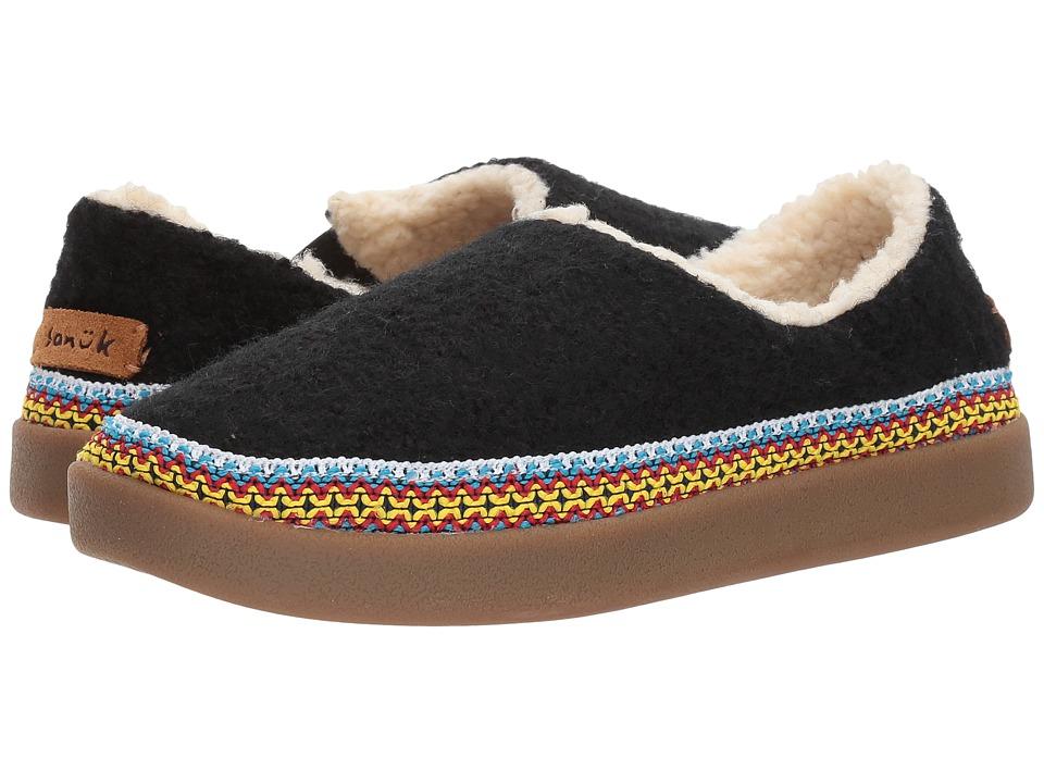 Sanuk Little Bootah (Black) Slip-On Shoes