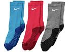 Nike Kids Dry Cushion Crew Socks 3-Pair Pack (Toddler/Little Kid/Big Kid)