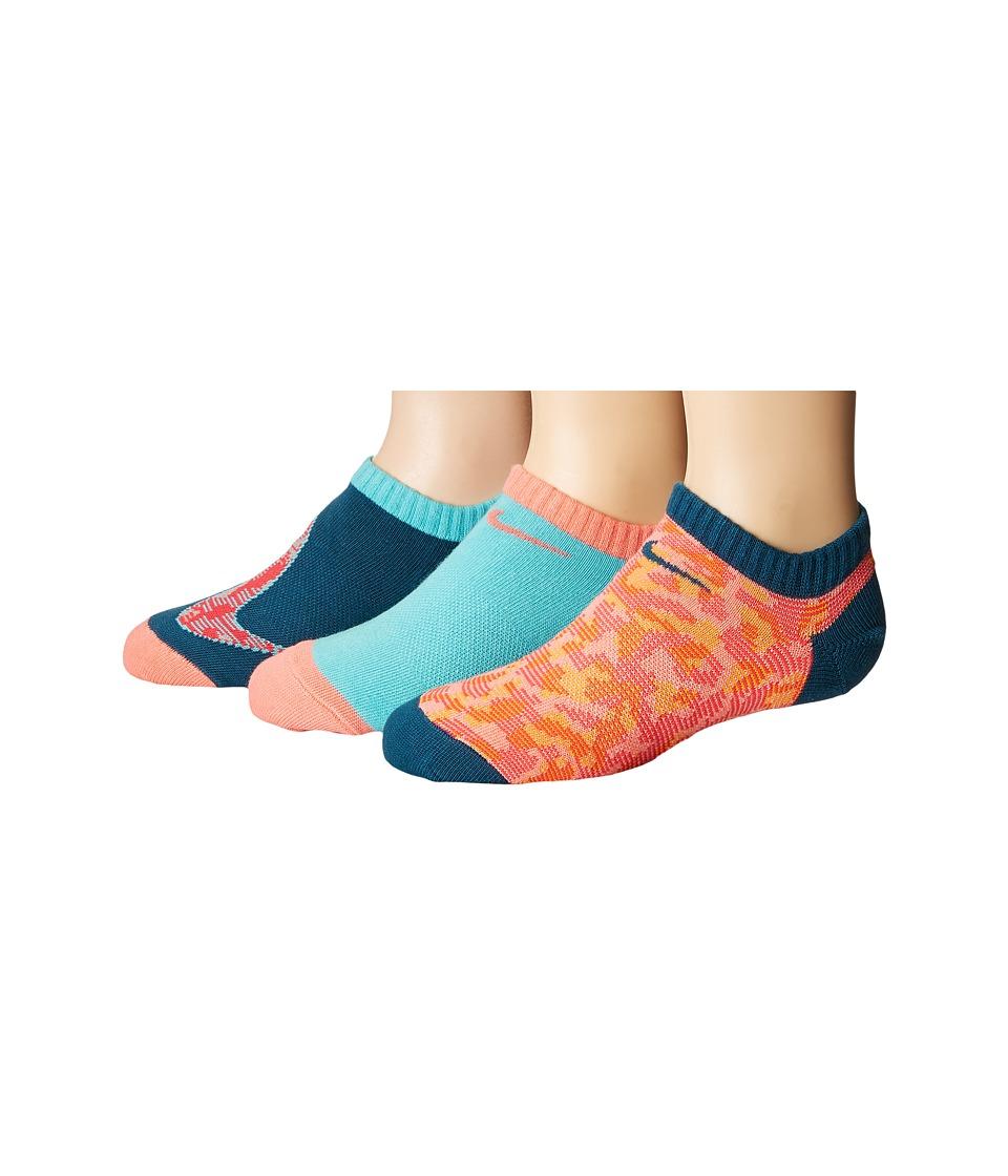Nike Kids - Performance Lightweight No Show 3-Pair Socks (Little Kid/Big Kid) (Multicolor) Girls Shoes