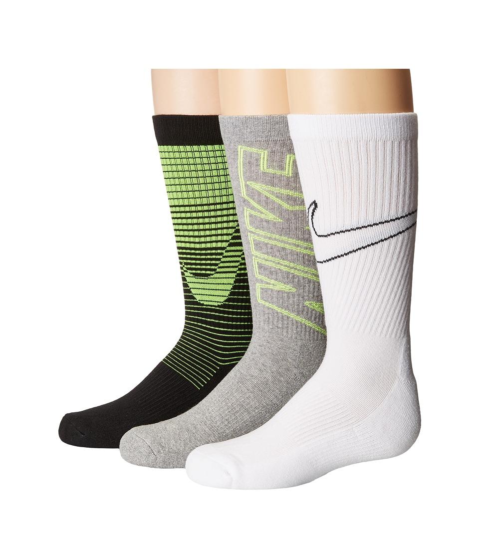 Nike Kids - Performance Cushion 3-Pair Socks (Little Kid/Big Kid) (Multicolor 4) Boys Shoes