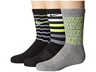 Nike Kids Performance Cushion Crew 3-Pair Socks (Little Kid/Big Kid)