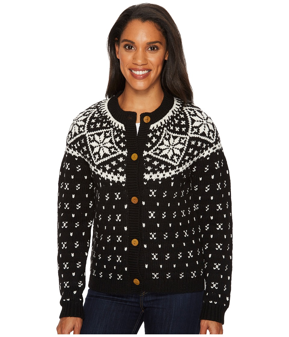 Woolrich Snowfall Valley Cardigan (Black) Women's Sweater