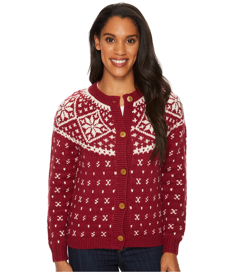 Woolrich Snowfall Valley Cardigan (Fire Brick) Women's Sw...