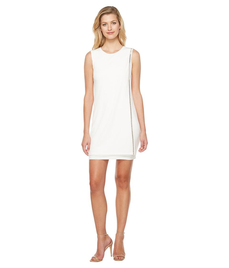 Jessica Simpson Sleeveless Front Drape Dress (Ivory 1) Women