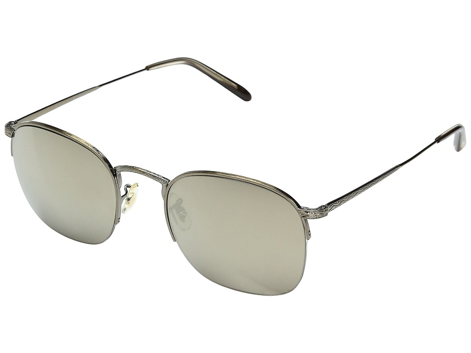 Oliver Peoples - Rickman (Antique Gold/Taupe Flash Mirror) Fashion Sunglasses