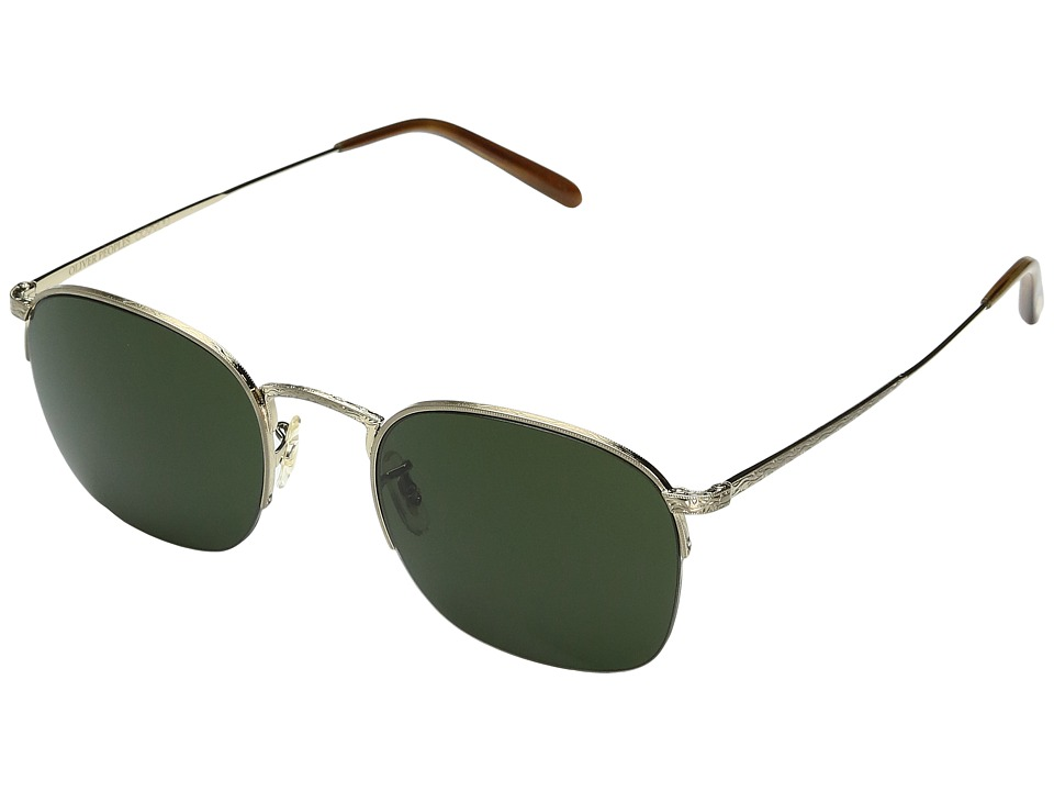 Oliver Peoples Rickman (Brushed Gold/Green) Fashion Sungl...