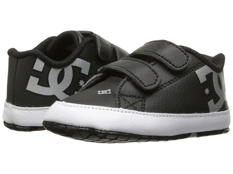 DC Kids Court Graffik (Infant/Toddler) (Black/Silver) Kids Shoes