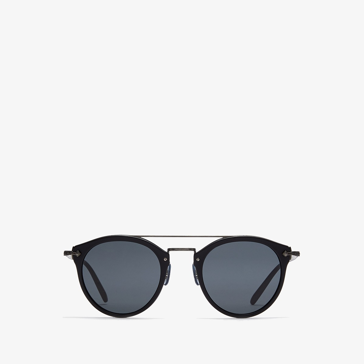 Oliver Peoples - Remick (Semi-Matte Black/Antique Pewter/Grey) Fashion Sunglasses
