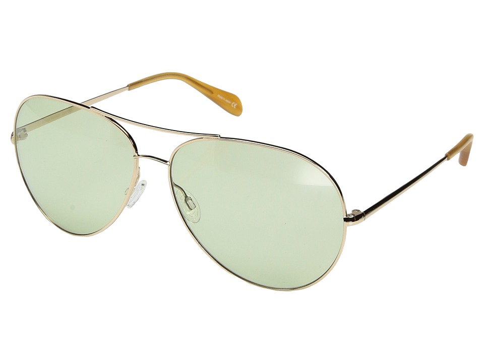 Oliver Peoples - Sayer Custom Light Wash (Gold/Green) Fashion Sunglasses