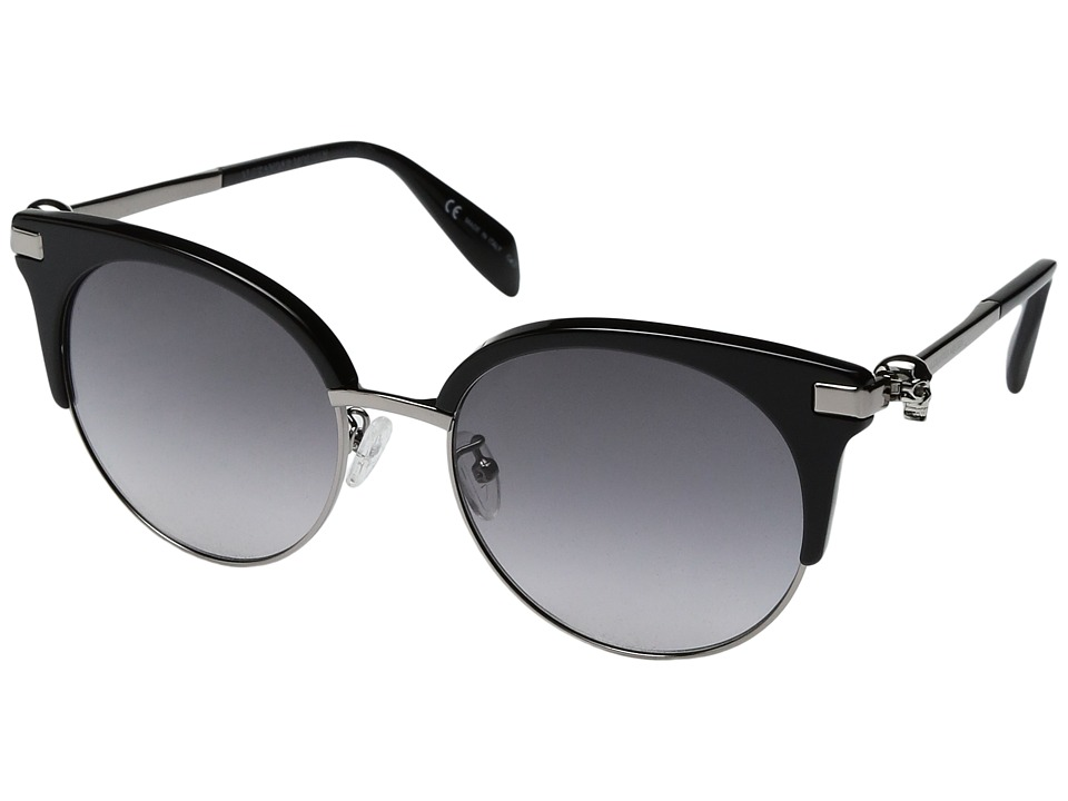 Alexander Mcqueen AM0082S (Black/Ruthenium Grey) Fashion ...