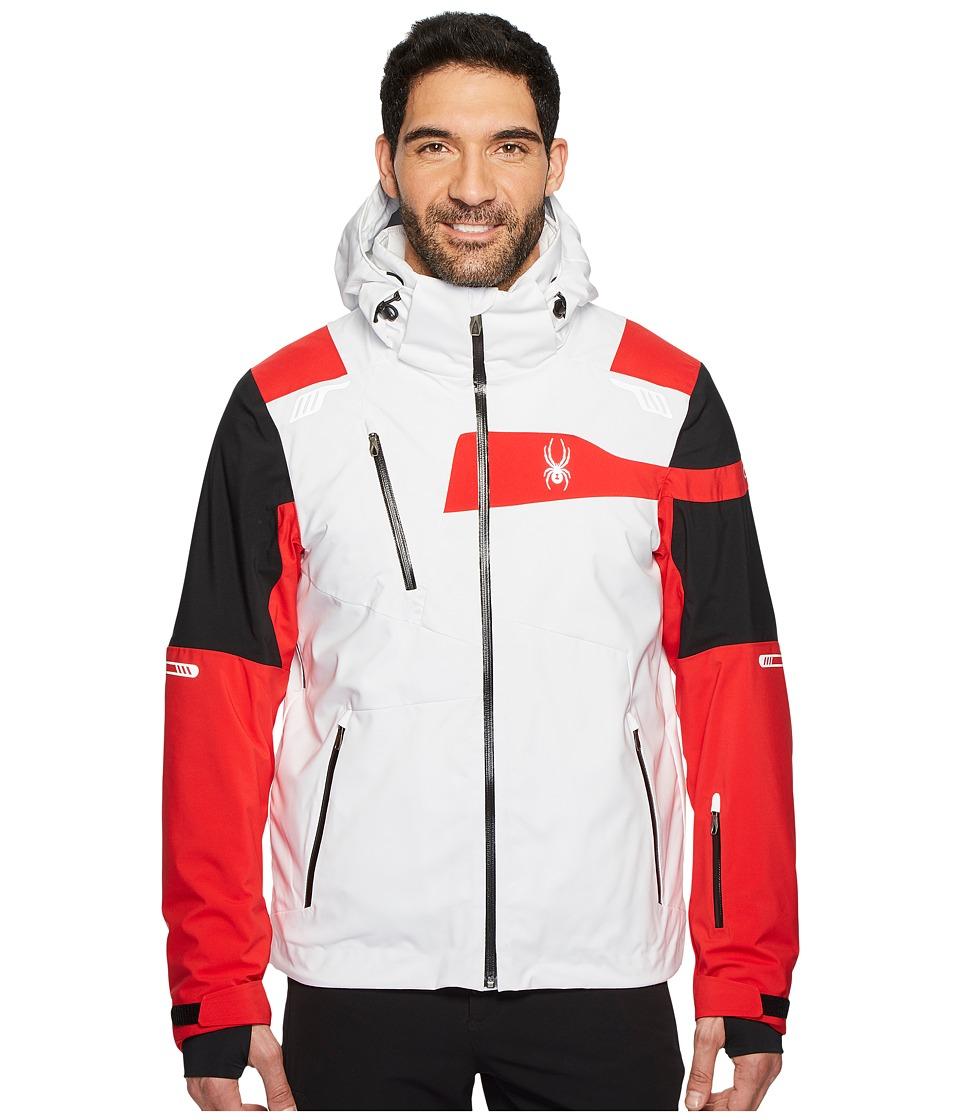 Spyder Titan Jacket (White/Black/Red) Men's Coat