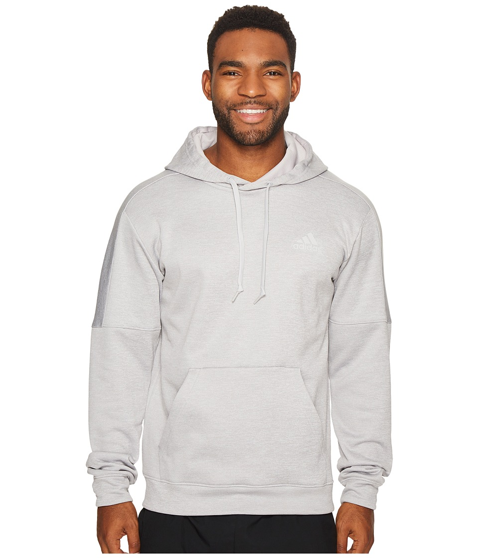 adidas Team Issue Fleece Pullover Hoodie (Grey Two Melange/Grey Two Melange/Grey Two) Men