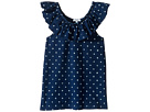 Indigo Peasant Top (Big Kids)