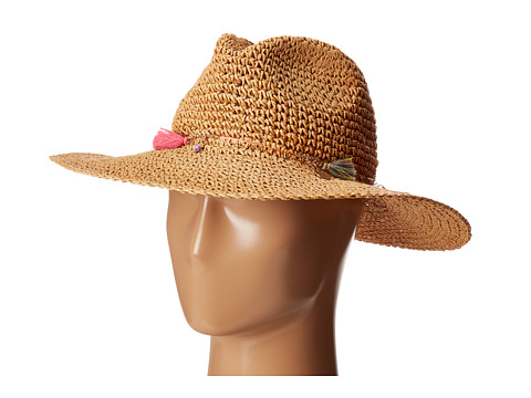 Echo Design Jewelry Tassel Panama Beach Hat - Natural