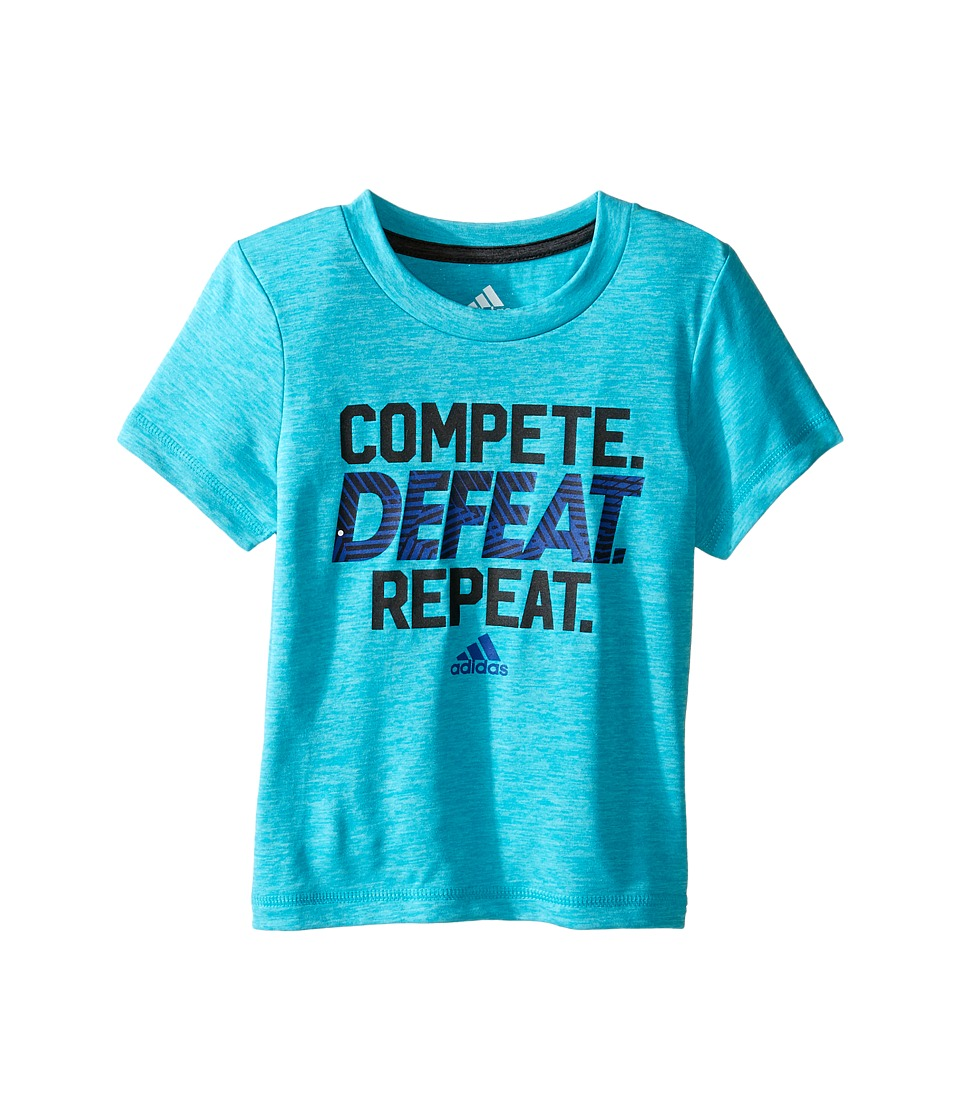 adidas Kids Compete Tee (Toddler/Little Kids) (Turquoise Heather) Boy