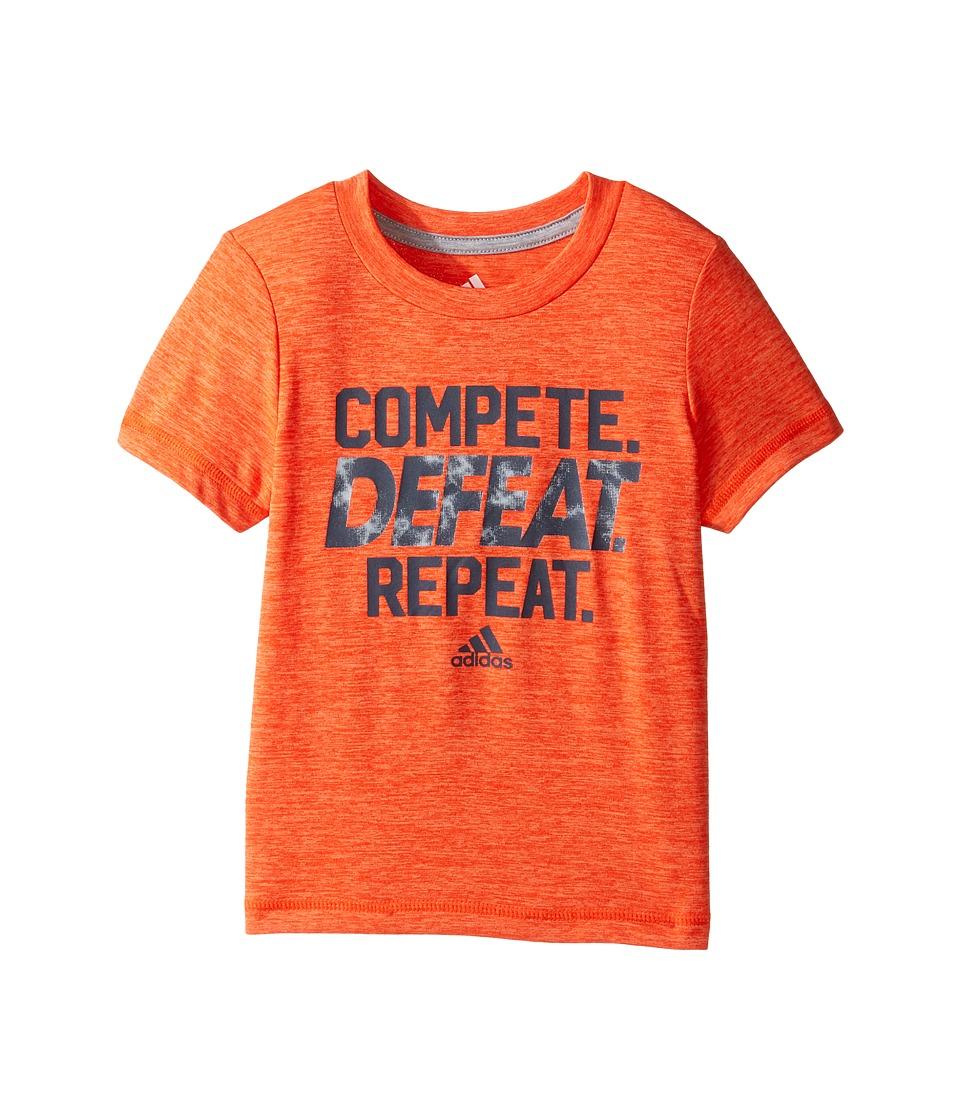 adidas Kids Compete Tee (Toddler/Little Kids) (Medium Orange) Boy