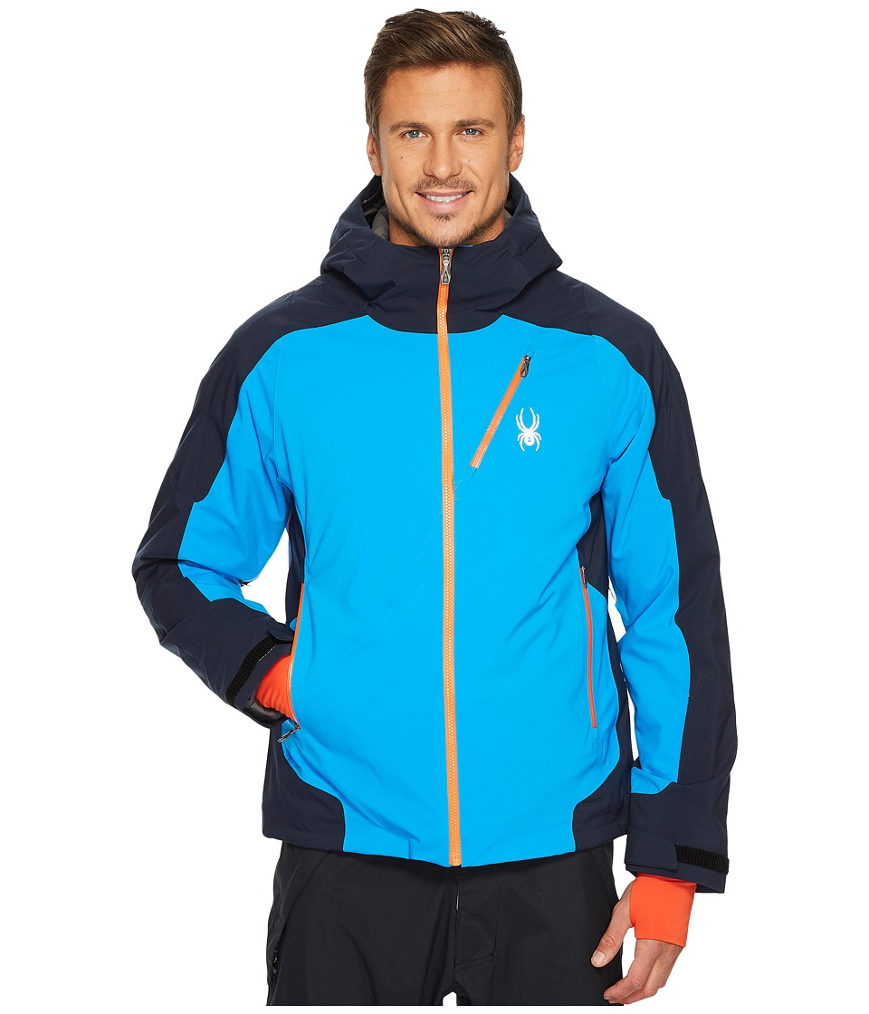 Spyder Laax Jacket (French Blue/Frontier/Frontier) Men's ...