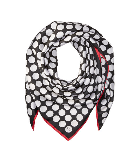 Echo Design Polka Dot Silk Square Scarf - Black